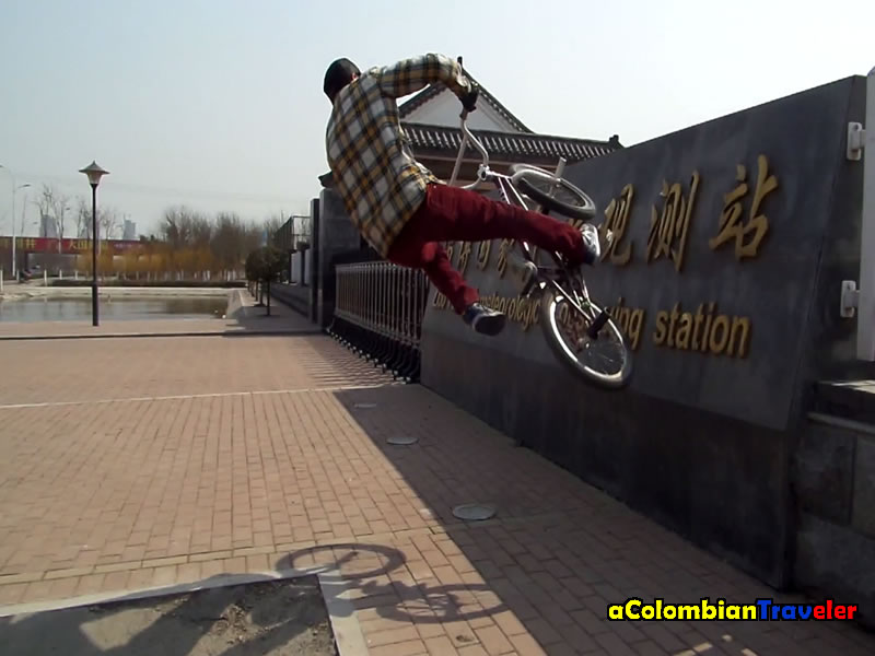a fail Wallride in Zibo, China